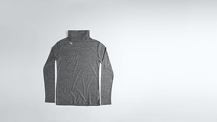 FOLE V1.Y0.02 Fine-knit Turtle Neck dark grey / anthracite Back Alpha Tauri
