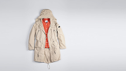 KORE V3.Y1.01 Two-Piece Insulated Parka beige - sand Back Alpha Tauri