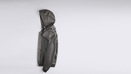 OLIN V1.Y1.01 Leather Jacket grey Back Alpha Tauri