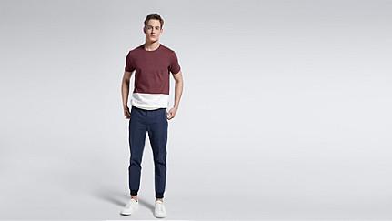 JUZO V1.Y1.01 Colorblock T-shirt bordeaux Front Main Alpha Tauri
