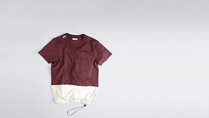 JUZO V1.Y1.01 Colorblock T-shirt bordeaux Back Alpha Tauri