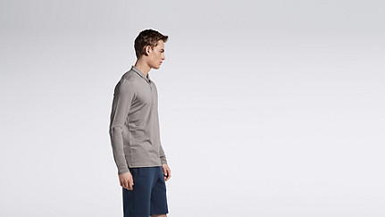 JOOK V1.Y1.01 Long-sleeved Polo grey Front Main Alpha Tauri