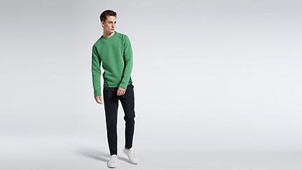 SATS V1.Y1.01 Material-Mix Sweatshirt green Haupt Vorne Alpha Tauri