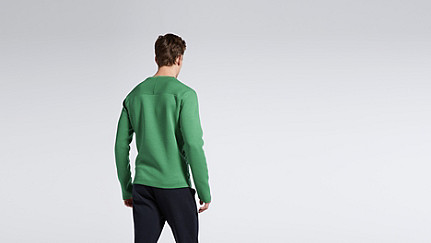 SATS V1.Y1.01 Material-Mix Sweatshirt green Vorne Alpha Tauri