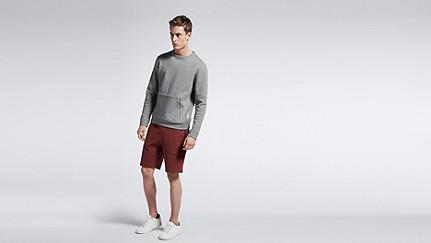 SAVO V1.Y1.01 Sweatshirt with Kangaroo Pocket grey Front Main Alpha Tauri