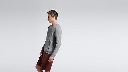 SAVO V1.Y1.01 Sweatshirt with Kangaroo Pocket grey Front Alpha Tauri