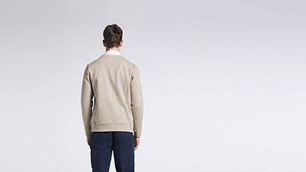 SAVO V1.Y1.01 Sweatshirt with Kangaroo Pocket beige - sand Front Alpha Tauri