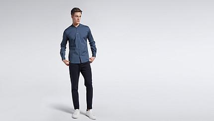 WADE V1.Y1.01 Sportliches Hemd blue Haupt Vorne Alpha Tauri