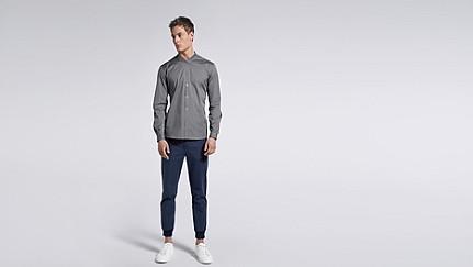 WADE V1.Y1.01 Sportliches Hemd grey Haupt Vorne Alpha Tauri