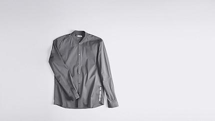WADE V1.Y1.01 Sportliches Hemd grey Hinten Alpha Tauri