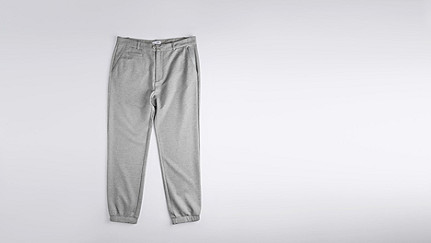 PRAX V1.Y1.01 Sporty Chinos grey / melange Back Alpha Tauri