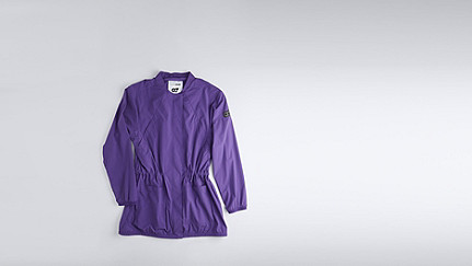 OAXA V1.Y1.01 Lightweight Parka purple Back Alpha Tauri
