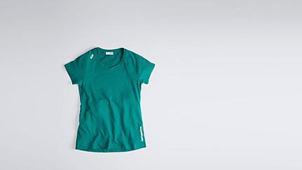 JERA V1.Y1.01 T-Shirt mit Schulterschlitzen green Hinten Alpha Tauri