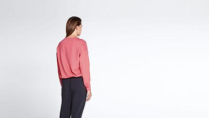 SIRA V1.Y1.01 Sweatshirt mit Kordelzug coral Vorne Alpha Tauri