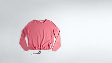 SIRA V1.Y1.01 Sweatshirt mit Kordelzug coral Hinten Alpha Tauri