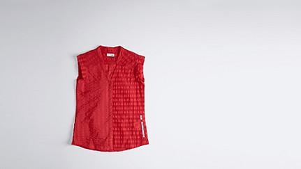 WAKA V1.Y1.01 Kurzarm Bluse red Hinten Alpha Tauri