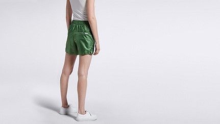 PALL V2.Y1.01 Sporty Shorts green Front Alpha Tauri