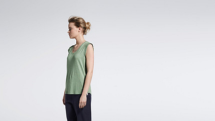 JAMA V1.Y1.01 Crop-sleeved T-shirt green / other Front Main Alpha Tauri