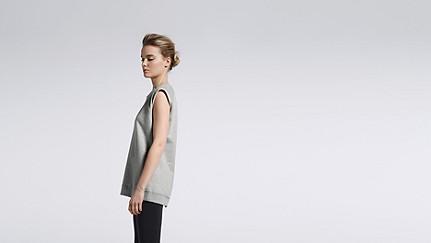SUSA V1.Y1.01 Sweatshirt mit Reißverschluss grey / melange Haupt Vorne Alpha Tauri