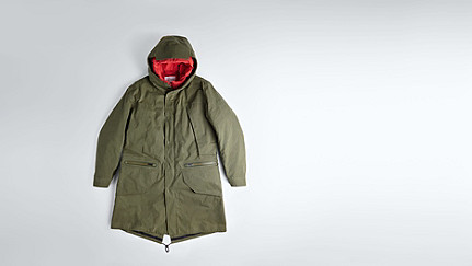 KORE V4.Y1.02 Two-piece Insulated Parka olive Back Alpha Tauri