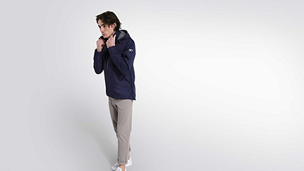 OHEM V1.Y1.02 Hooded Taurex® Jacket navy Front Main Alpha Tauri