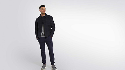 OHNA V1.Y1.02 Wool Jacket navy Front Main Alpha Tauri