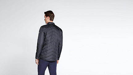 OSSO V1.Y1.02 Quilted Jacket navy Front Alpha Tauri
