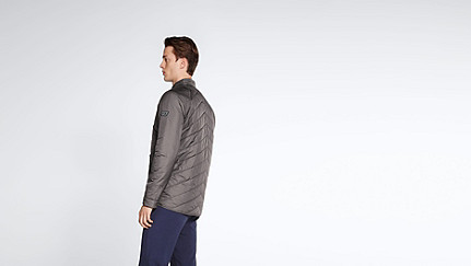 OSSO V1.Y1.02 Quilted Jacket grey Front Alpha Tauri