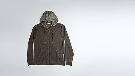 SOLF V3.Y1.02 Cold Dye Sweat Jacket camouflage Back Alpha Tauri