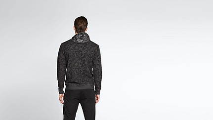 SOLF V3.Y1.02 Cold Dye Sweat Jacket black / grey Front Alpha Tauri