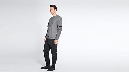 SADT V1.Y1.02 Layered Sweatshirt grey / melange Front Main Alpha Tauri