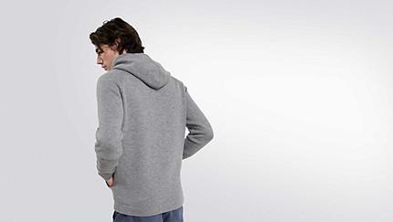 FORO V1.Y1.02 Hooded Woollen Sweater grey / melange Front Alpha Tauri