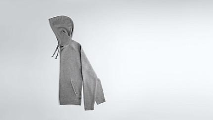 FORO V1.Y1.02 Hooded Woollen Sweater grey / melange Back Alpha Tauri