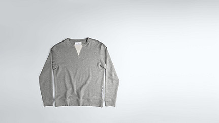 SPUC V1.Y1.02 V-detailed Sweatshirt grey / melange Back Alpha Tauri