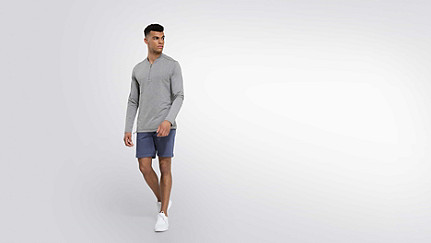 JOOK V2.Y1.02 Adjustable Longsleeve grey / melange Front Main Alpha Tauri