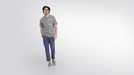 JUJO V2.Y1.02 Technisches Sweat T-Shirt grey / melange Haupt Vorne Alpha Tauri