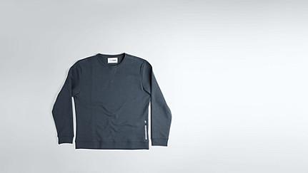 SPOC V1.Y1.02 Round-necked Sweatshirt navy Back Alpha Tauri