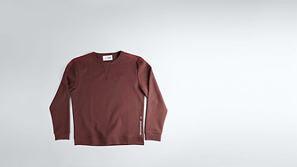 SPOC V1.Y1.02 Round-necked Sweatshirt bordeaux Back Alpha Tauri