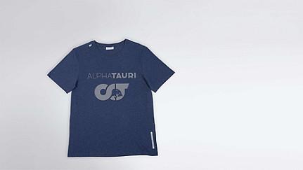 JERO V1.Y1.02 Herobranding T-Shirt navy / melange Hinten Alpha Tauri
