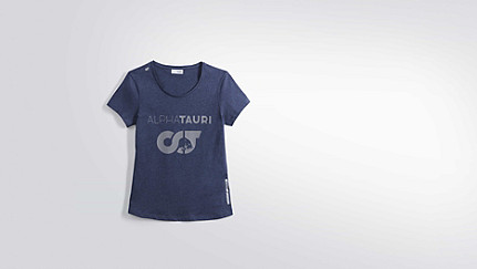 JERU V1.Y1.02 Herobranding T-Shirt navy / melange Hinten Alpha Tauri
