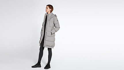 ODAR V1.Y1.02 Long Padded Coat grey Front Main Alpha Tauri