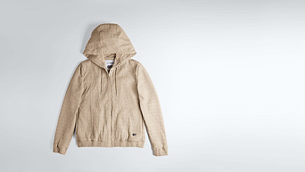 LYNN V2.Y1.02 Hooded Leather Jacket offwhite Back Alpha Tauri