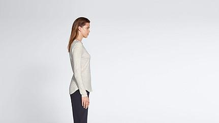 JYNN V1.Y1.02 Long-Sleeved T-shirt 33 offwhite melange Front Alpha Tauri