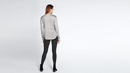 JOLA V1.Y1.02 Langärmliges T-Shirt grey / melange Haupt Vorne Alpha Tauri