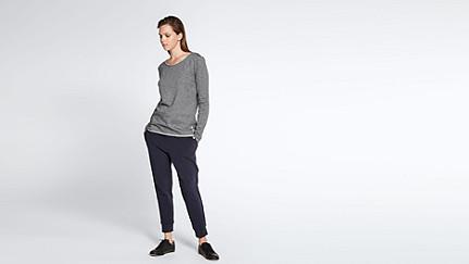JOKA V2.Y1.02 Roll-hem T-shirt grey / melange Front Main Alpha Tauri