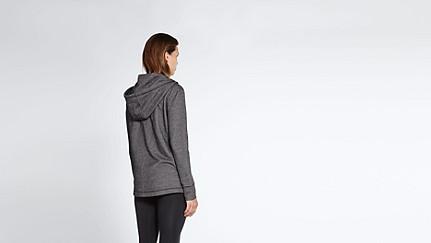 SAAD V1.Y1.02 Hooded Sweat Jacket black / white Front Alpha Tauri