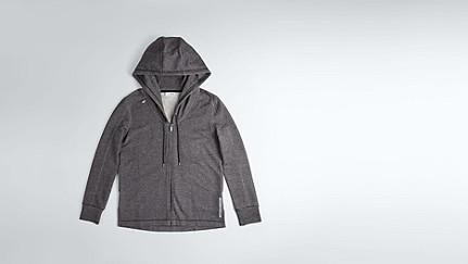SAAD V1.Y1.02 Hooded Sweat Jacket black / white Back Alpha Tauri