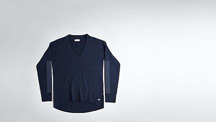 FALA V1.Y1.02 Rib-knit Pullover navy Back Alpha Tauri