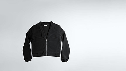 JODI V1.Y1.02 Technical Rib Cardigan black Back Alpha Tauri