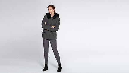 OSMA V1.Y1.02 Two-piece Taurex® Leather-detail Jacket dark grey / anthracite Front Main Alpha Tauri